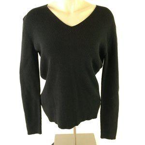 Eddie Bauer Stretch Sweater Pullover V Neck Knit C